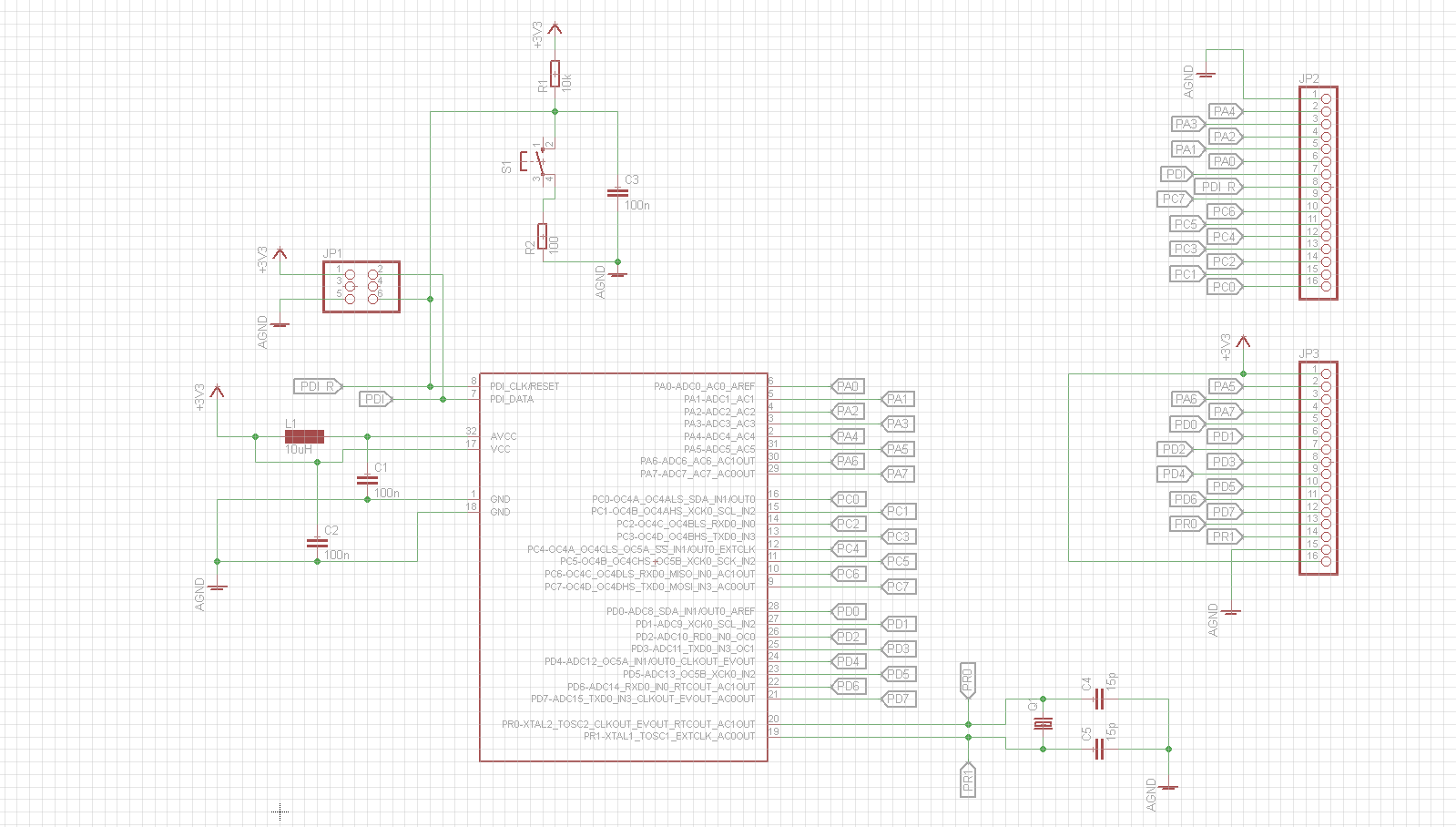 Playing With Atxmega16e5 Breakout Morf Coding And Engineering Updated Nixie Clock Schematic Ketturi Electronics Board Circuit
